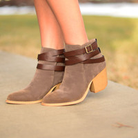 The Mimi Booties - Taupe