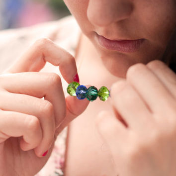 Blue & Green Tears Necklace