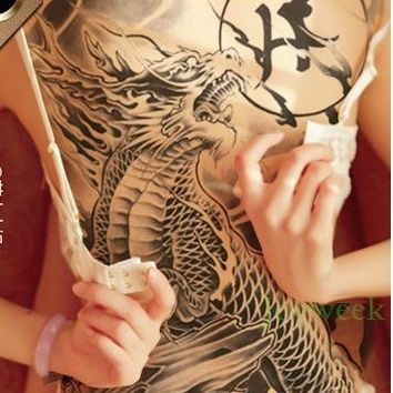 Waterproof Temporary Tattoo Sticker China myth dragon  tatto stickers flash tatoo fake tattoos for men