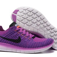 """Nike Free Rn Flyknit 5.0"" Women Sport Casual Fly Knit Multicolor Sneakers Running Shoes"