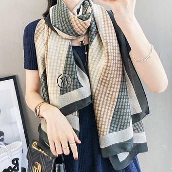 Hermes Fashion New More Letter Print Leisure Scarf