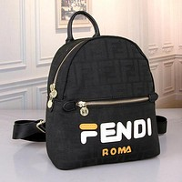 FENDI Women Leather Bookbag Shoulder Bag Handbag Backpack