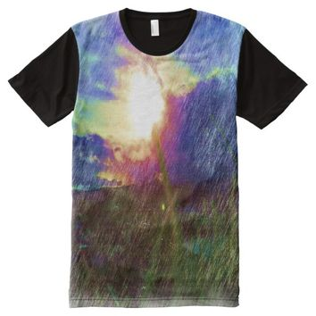 Nature with the sun looking like a flower All-Over print t-shirt