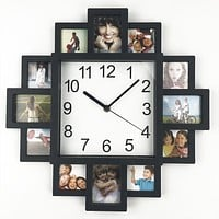 MODERN WALL CLOCK WITH PHOTO FRAME