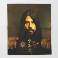 Dave Grohl - replaceface Throw Blanket by Replaceface