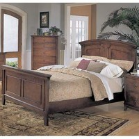 Homelegance Avalon Panel Bed in Cherry