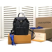 LV Louis Vuitton BEST QUALITY MONOGRAM LEATHER SMALL Montsouris BACKPACK BAG