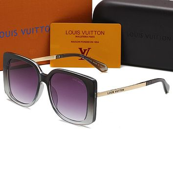 Louis Vuitton LV Hot Selling Trend Fashionable Men's and Women's Sunglasses Sunglasses Sunglasses Beach UV Protection Glasses Driving Polarized Glasses