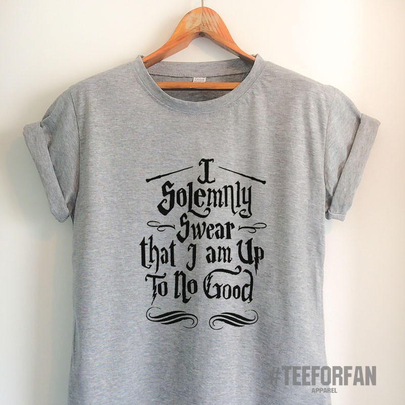 Image of Harry Potter Shirts Harry Potter Merchandise I Solemnly Swear That I Am Up To No Good T Shirts Clothes Apparel Top Tee for Women Girls Men