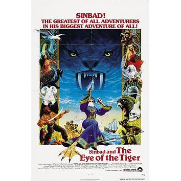 Sinbad and the Eye of the Tiger Poster//Sinbad and the Eye of the Tiger Movie Poster//Movie Poster//Poster Reprint