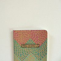 moleskine pocket notebook - amazingness, geometric, journal