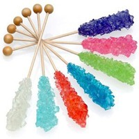 Dryden n Palmer Rock Candy on Stick, Assorted, 10 Count