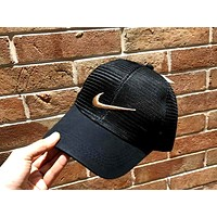 NIKE Tide brand outdoor sports baseball cap Black