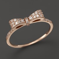KC Designs Diamond Bow Band in 14K Rose Gold, .25 ct. t.w.