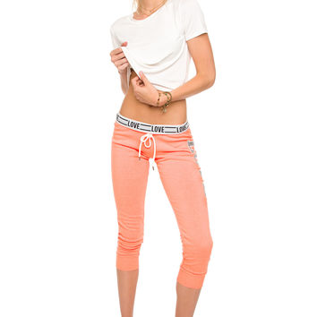 Love Always Wins Pants - Neon Peach