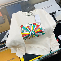 GUCCI COLORFUL BOUQUET LOVERS ROUND NECK SWEATER