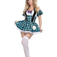 Adult Sexy Checkered Mad Hatter Costume