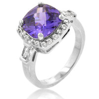 Midnight Amethyst Ring, size : 05