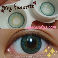 NEO Shimmer Aqua Circle Lenses Colored Contacts Cosmetic Color Circle Lens | EyeCandy's