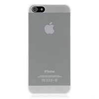 White Translucent Solid Color Case For iPhone 5 & 5S