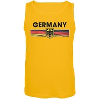 World Cup Germany Eagle Crest Yellow Soccer Tank Top