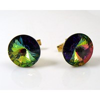 Vintage signed Weiss Watermelon Rivoli Cufflinks