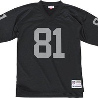 Tim Brown Oakland Raiders Black Throwback Jersey