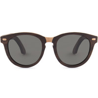 Shwood Oswald Select Rosewood and Quilted Maple Polarized Grey Sunglasses