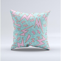 The 90's Zig Zag ink-Fuzed Decorative Throw Pillow