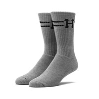HUF - CLASSIC H TALL SOCKS // GRAY HEATHER