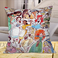 Heart of a Princess Disney Design on Square Pillow Cover