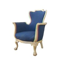 Antique Bergere Chair with Ball and Claw Feet