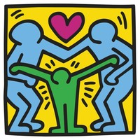 Keith Haring - Untitled (Three Figures)