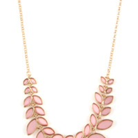Lost in the Leaves Necklace- Pink
