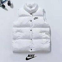 NIKE Trending Women Stylish Print Sleeveless Vest Waistcoat Cardigan Jacket Coat White