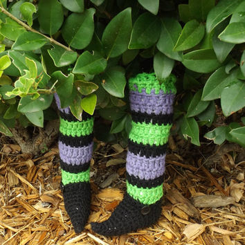 Witch Legs Halloween Decoration Striped Leggings
