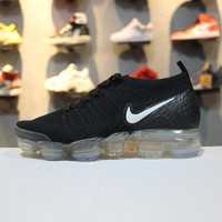 Nike Air VaporMax 2.0 Flyknit Black White 942843-001 Sport Running Shoes - Best Online Sale