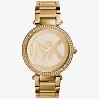 Parker Pavé Gold-Tone Watch | Michael Kors
