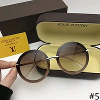 LV Louis Vuitton 2018 trendy male and female models retro round frame sunglasses F-A-SDYJ #5