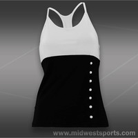 Eliza Audley Side Button Racer Back Tank
