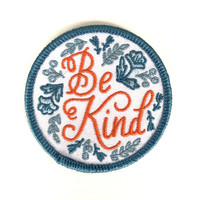 Be Kind Iron-On Patch