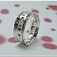 Spinner Ring Personalized Sterling Silver by CharitableCreations