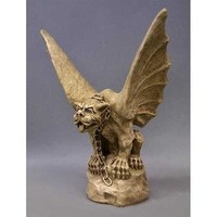 Chained Gargoyle of Turin with Wings Statue, 17H  - TF95550