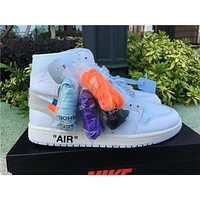 Off-white X Air Jordan 1 White Aq0818-100 #36---#47.5