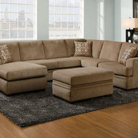 Platinum Cocoa 2 Pc. Sectional