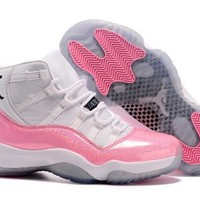 Hot Nike Air Jordan 11 Women Shoes Colorful White Pink