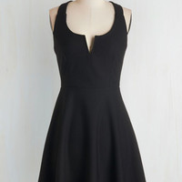 Mid-length Sleeveless A-line Shared Laughter Dress in Black