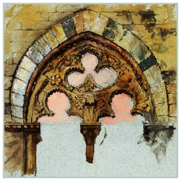 Study of a Window From Palazzo Tolomei Siena Italy by John Ruskin Counted Cross Stitch Pattern