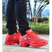 Raf Simons x Adidas Consortium Ozweego 2 III Retro Sport Smart Running Shoes Red Trainers Shoes S74584