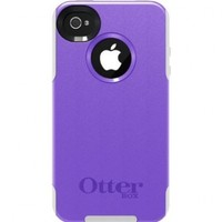 OtterBox Commuter Series Case for iPhone 4/4S - Frustration-Free Packaging - Purple/White
